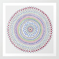 Mandala Smile B Art Print