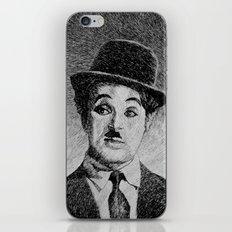 Chaplin portrait - Fingerprint iPhone & iPod Skin