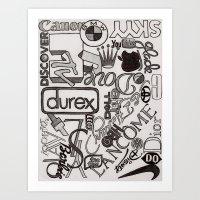 Logo Mania Art Print