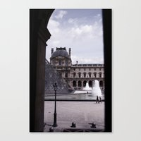 Peek Out The Louvre (Pho… Canvas Print