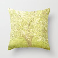 Cherry Tree Throw Pillow