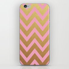 pink and gold chevron iPhone & iPod Skin