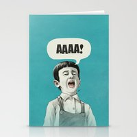 AAAA! (Blue) Stationery Cards