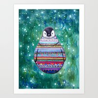 penguin Art Prints featuring penguin by beart24