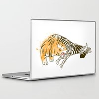 Laptop & iPad Skin featuring A Self Containing Food Chain by Koenu