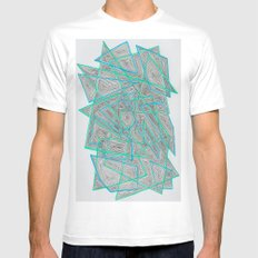 Criss-Cross Mens Fitted Tee White SMALL
