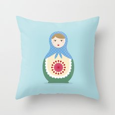 MATRYOSHKAS SERIES - LARISA Throw Pillow