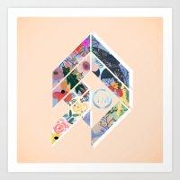 Geoflower Art Print
