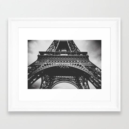 Under  the tower Framed Art Print
