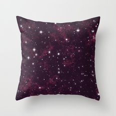 Burgundy Space Throw Pillow