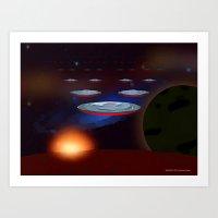 INVASION 005 © 2012 Laz… Art Print