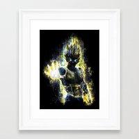DBZ Inspired Epic Vegeta… Framed Art Print