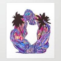 Cali for the Summer Art Print