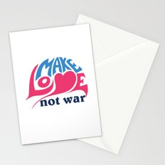 Make Love Not War Stationery Cards