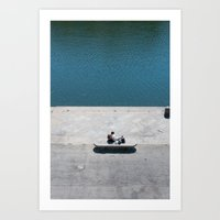 The Reader And The River Art Print