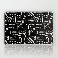 Heiroglyph In Black Laptop & iPad Skin