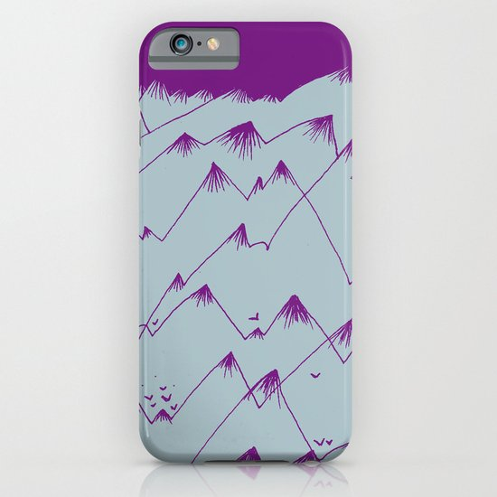 Purple Mountains iPhone & iPod Case