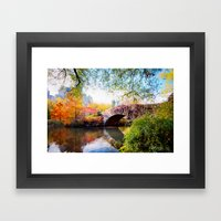 Last Autumn In Central P… Framed Art Print