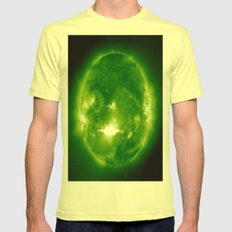 green sun Mens Fitted Tee Lemon SMALL