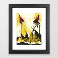Eagle Eye Watching Framed Art Print