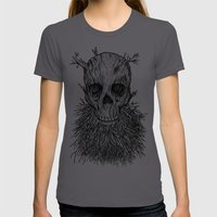 The Lumbermancer (Grey) Womens Fitted Tee Asphalt SMALL