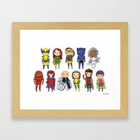 Super Cute Heroes: X-Men Framed Art Print