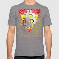Bitcoin Spain Mens Fitted Tee Tri-Grey SMALL