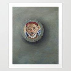 Bill Murray / Steve Zissou / Wes Anderson  Art Print