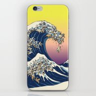 The Great Wave Of  Cat iPhone & iPod Skin