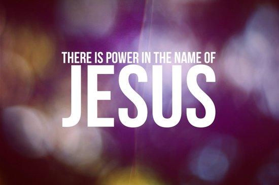 Power in the Name of Jesus Art Print