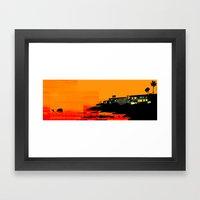 Sunset Cliffs Framed Art Print