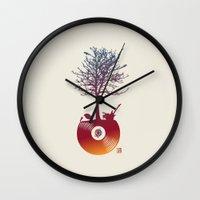 Vinyl Tree 2 Wall Clock