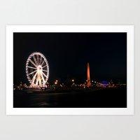 PARIS Concorde place big wheel Art Print