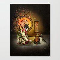 Camellia Tea Canvas Print