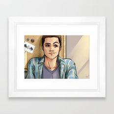 Snark Nerdy To Me Framed Art Print