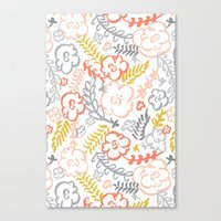 Floral Brush Canvas Print