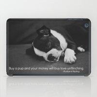 Puppy Love Rudyard Kipling Quote iPad Case