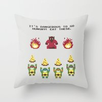 The Legend Of Pizza Throw Pillow