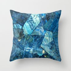 Labradorite Blue Throw Pillow