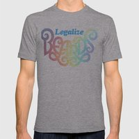 Legalize Beards Mens Fitted Tee Athletic Grey SMALL