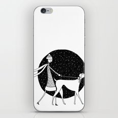 walking in a winter wonderland iPhone & iPod Skin