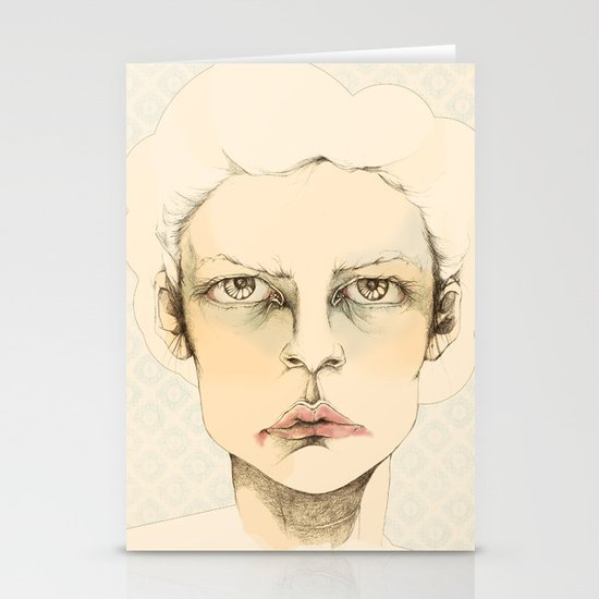 """portrait of anybody"" Stationery Card"