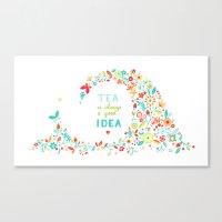 Tea Idea Canvas Print
