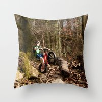 Where we're going we don't need roads Throw Pillow