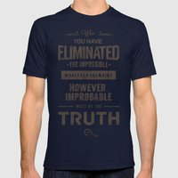 Detective Quotes Mens Fitted Tee Navy SMALL