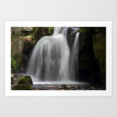 Waterfall at Lumsdale Mill Art Print