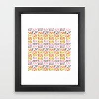 Pattern Project #19 / Ru… Framed Art Print
