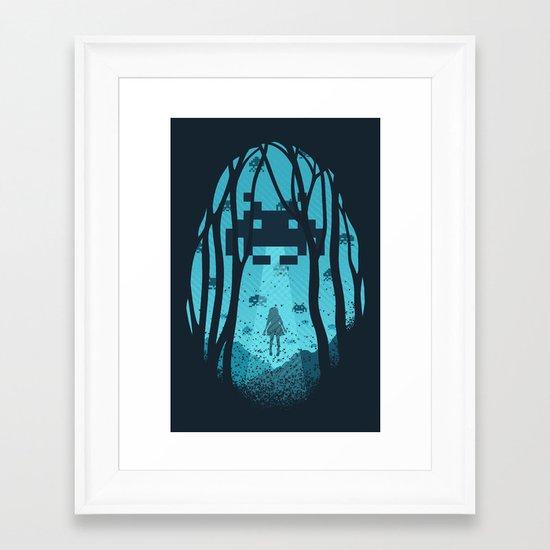 8 Bit Invasion Framed Art Print