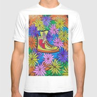 SNEAKER OF PEACE AND LOV… Mens Fitted Tee White SMALL