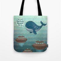 wise whale says Tote Bag